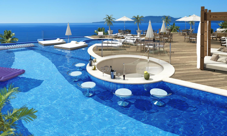 Apartamento de alto padr o frente ao mar em bc santa for Cenefas para piscinas